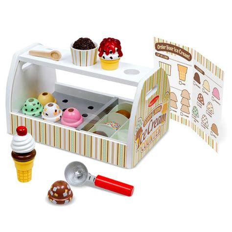 comptoir 224 cr 232 me glac 233 e en bois jouet nourriture dessert manger cuisinette cuisine glace