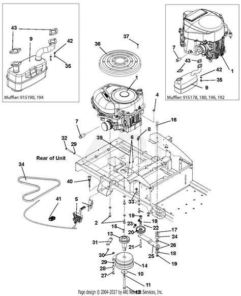 gravely   zt  kohler parts diagram
