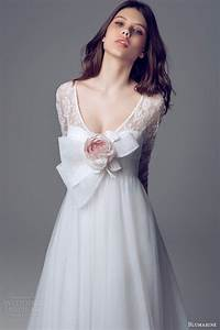 blumarine bridal 2014 wedding dresses wedding inspirasi With long sleeve empire waist wedding dress