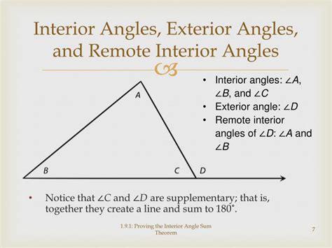 proving  interior angle sum theorem powerpoint
