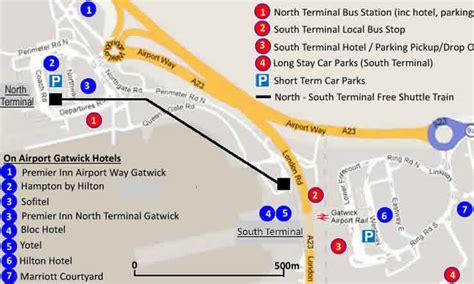 gatwick airport hotels   walk    terminals