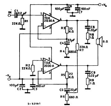 integrated circuit  bridging amplifiers affect