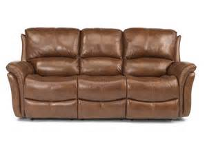flexsteel living room leather power reclining sofa 1445