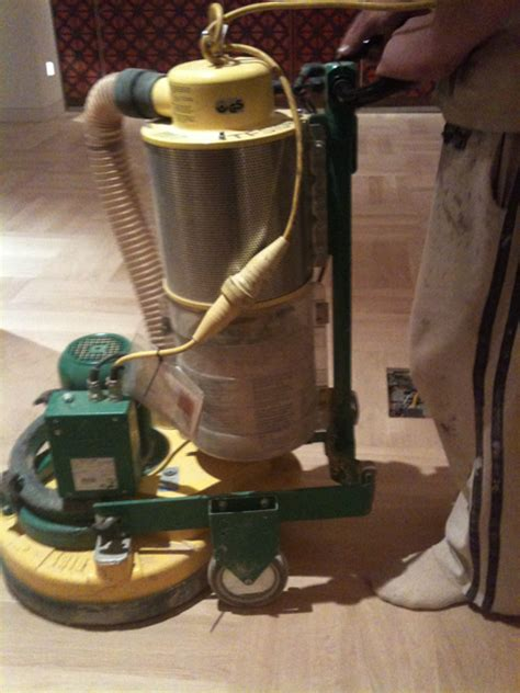 Buffing Hardwood Floors Between Coats by Through The Process Wood Floor Buffing