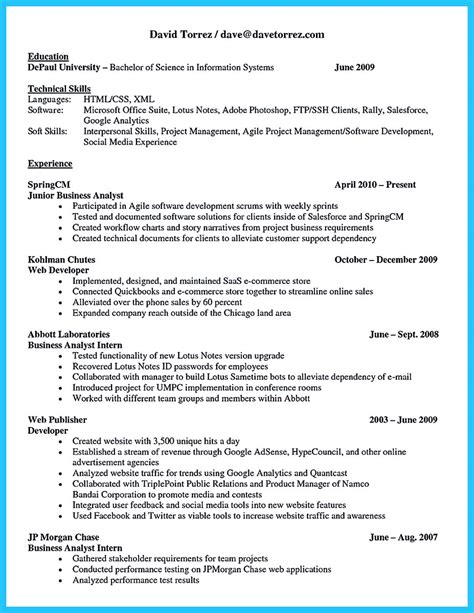 Business Systems Analyst Resume by Best Secrets About Creating Effective Business Systems