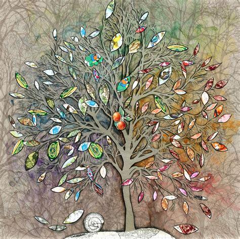 tree of life seasons mixed media by helen bennett