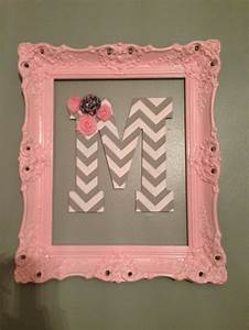 vintage nature themed soft pink nursery for baby girl With letter m room decor