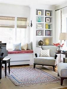 Fensterbank Dekorieren Wohnzimmer : 43 ideen f r behagliche sitzecke auf der fensterbank ~ Markanthonyermac.com Haus und Dekorationen