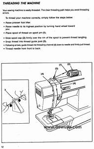 White Sewing Machine Threading Diagram