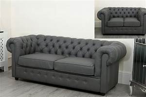 Sofa 3 2 1 : empire grey faux leather chesterfield sofa suite abreo home furniture ~ Eleganceandgraceweddings.com Haus und Dekorationen