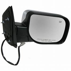 Power Heated Chrome Door Mirror Passenger Side Right Rh