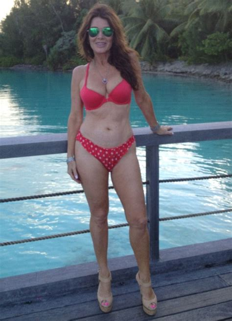 lisa vanderpump bikini lisa vanderpump 52 is scorching in a scarlet bikini as