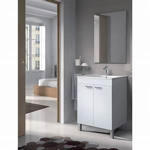 Meuble Vasque 60 Cm : ensemble meuble de salle de bain koncept 60 cm achat ~ Dailycaller-alerts.com Idées de Décoration