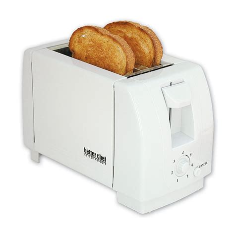 White Toaster by Better Chef 2 Slice Toaster White Appliances Small