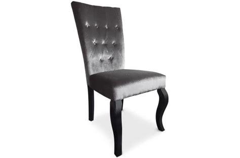 chaises capitonnées pas cher lot de 2 chaises capitonnées velours gris rockstar