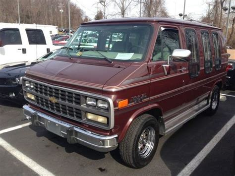 transmission control 1993 chevrolet g series g20 auto manual sell used 1993 chevrolet g20 chevy mark iii conversion van 3 door 4 3l in warrenton virginia