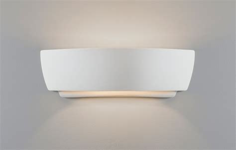 astro kyo ceramic plaster wall light up white 60w e27