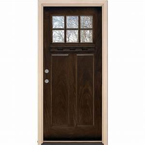 Feather River Doors 37 5 inx 81 625 in6 Lite Craftsman