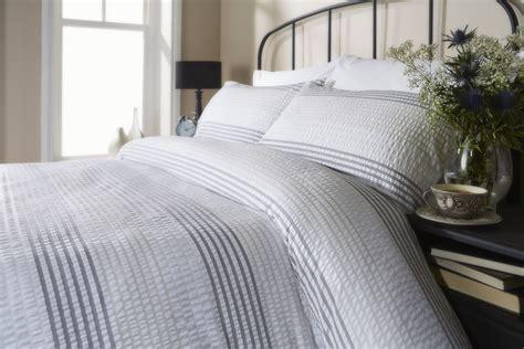 seersucker bedding grey white stripe seersucker duvet cover set bedding 100 cotton ebay