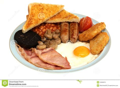 brit cuisine fried traditional breakfast stock image