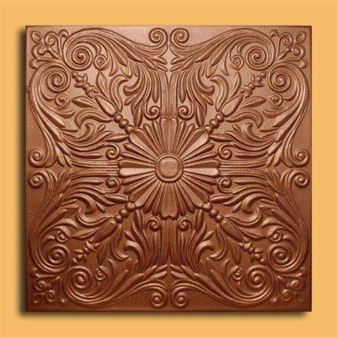 astana copper foam glue up ceiling tiles antique