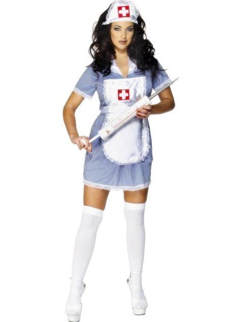Sexy Nurse Costume Ladies Uniform Fancy Dress Doctors ER Womens Outfit + Hat NEW   eBay