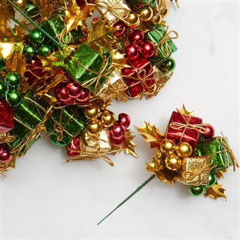 whimsical gift and ornament floral picks holiday florals