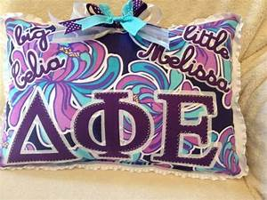 greek letter big little pillows big little gifts With big and little sorority letters