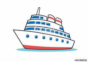 """""""Cruise ship icon."""" Stock image and royalty-free vector ..."""