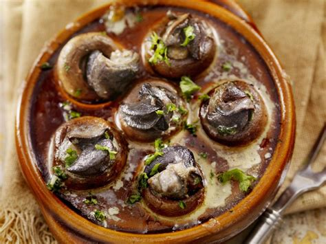 cuisine escargots escargot stuffed mushrooms recipe