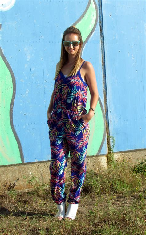 colorful jumpsuit colorful palm tree jumpsuit for the of glitter
