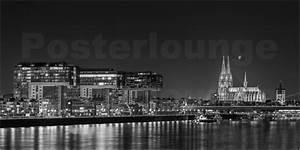 London Skyline Schwarz Weiß : rclassen k ln skyline am abend schwarz wei poster online bestellen posterlounge ~ Watch28wear.com Haus und Dekorationen