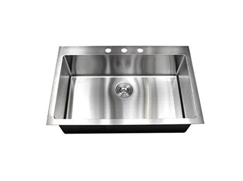 stainless steel sink gauge 16 vs 18 30 quot top mount single bowl kitchen sink 16 gauge 304