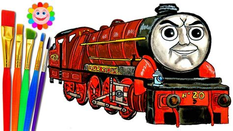 draw thomas  friends coloring pages hurricane train video  children youtube