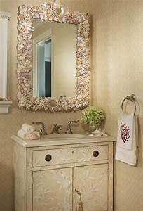 decoration salle de bain avec coquillage With carrelage adhesif salle de bain avec lumiere de noel led