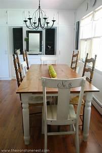 Remodelaholic White Farmhouse Dining Room