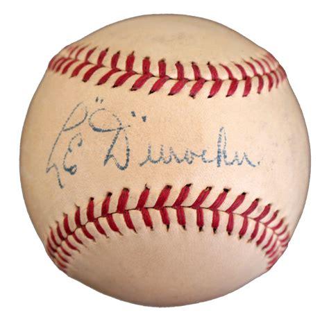 lot detail rare leo durocher single signed baseball