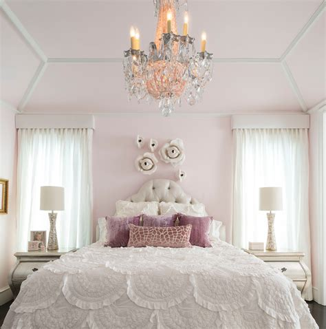 four poster canopy fit for a princess decorating a girly princess bedroom