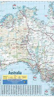 Map of Australia Meridian wall map   9781920958312