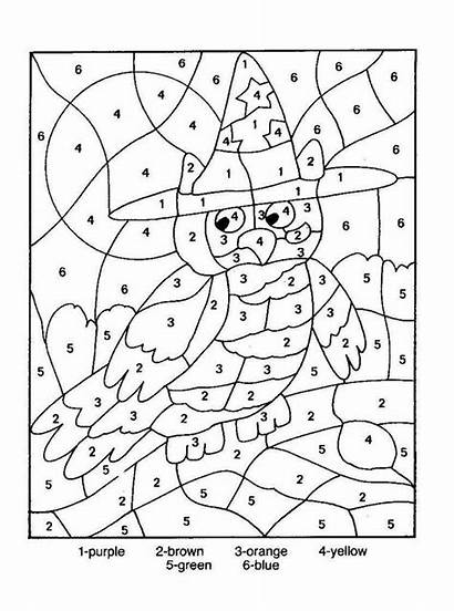 Number Coloring Printables Difficult Numbers Pages Printable