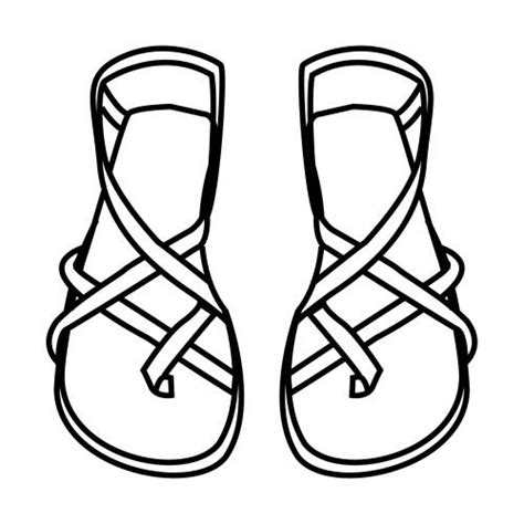 sandal coloring pages sunday school pinterest