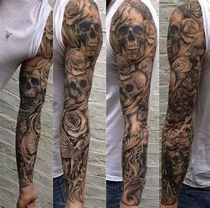 Tattoo sleeve skull   tattoos   Pinterest   Tattoo ...