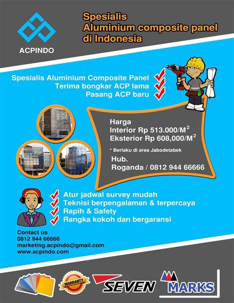 aluminium composite panel indonesia jasa pasang acp jakarta