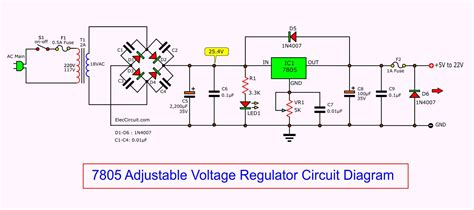 Adjustable Voltage Regulator Circuit Eleccircuit