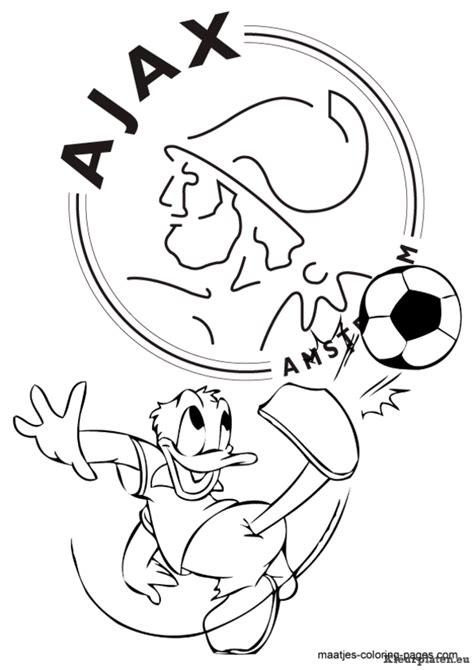 Kleurplaat Meiden Voetbal by Ajax Kleurplaten Kleurplaten Eu