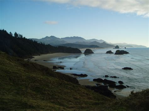 cannon beach or late afternoon view ecola state park