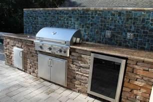 exceptional outdoor kitchen brandon fl with mosaic ceramic tile kitchen backsplash and granite