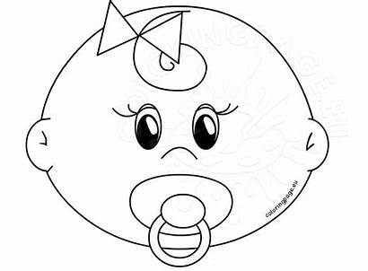 Coloring Face Pages Faces Printable Drawing Blank