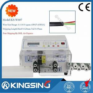 Flat 2 Core Wire Cutting And Peeling Machine    Round Wire