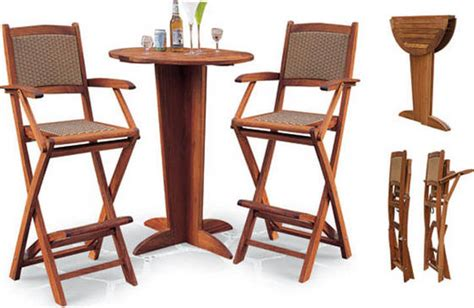 wooden rattan folding bar table with chairs id 4454989